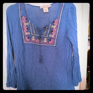 Flying Tomato Peasant Top! Sz S EUC